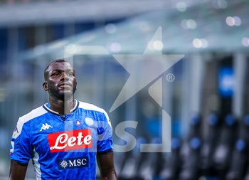 28/07/2020 - Kalidou Koulibaly of SSC Napoli during the Serie A 2019/20 match between FC Internazionale vs SSC Napoli at the San Siro Stadium, Milan, Italy on July 28, 2020 - Photo Fabrizio Carabelli - INTER VS NAPOLI - SERIE A - CALCIO