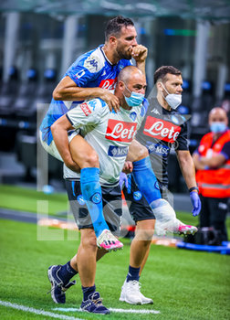 28/07/2020 - Nikola Maksimovic of SSC Napoli injured during the match during the Serie A 2019/20 match between FC Internazionale vs SSC Napoli at the San Siro Stadium, Milan, Italy on July 28, 2020 - Photo Fabrizio Carabelli - INTER VS NAPOLI - SERIE A - CALCIO