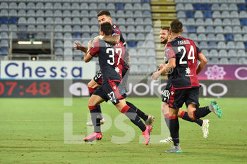 29/07/2020 - Luca Gagliano of Cagliari Calcio, Esultanza, Celebration after scoring goal - CAGLIARI VS JUVENTUS - SERIE A - CALCIO