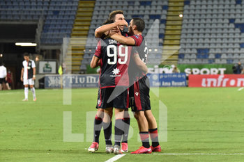 29/07/2020 - Giovanni Simeone of Cagliari Calcio, Esultanza, Celebration after scoring goal - CAGLIARI VS JUVENTUS - SERIE A - CALCIO