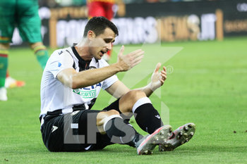 29/07/2020 - Udinese's Kevin Lasagna disappointed during the Italian Serie A soccer match Udinese Calcio vs US Lecce at the Friuli - Dacia Arena stadium in Udine, Italy, 29 July 2020. ANSA/GABRIELE MENIS - UDINESE VS LECCE - SERIE A - CALCIO