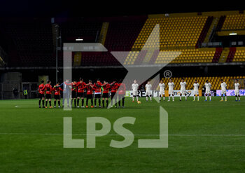 21/02/2021 - minute of meditation for the death of Mauro Belugi - BENEVENTO CALCIO VS AS ROMA - SERIE A - CALCIO