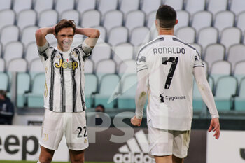 07/04/2021 - Federico Chiesa (Juventus FC) disappointed with Cristiano Ronaldo (Juventus FC) - JUVENTUS FC VS SSC NAPOLI - SERIE A - CALCIO