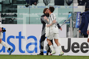 07/04/2021 - Paulo Dybala (Juventus FC) and Andrea Pirlo (coach) celebrates the goal - JUVENTUS FC VS SSC NAPOLI - SERIE A - CALCIO