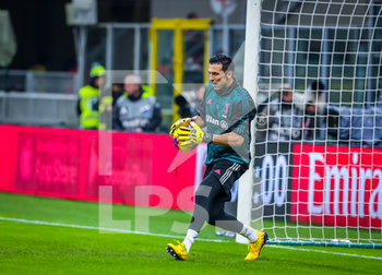 13/02/2020 - Gianluigi Buffon of Juventus during the Coppa Italia 2019/20 match between AC Milan vs Juventus at the San Siro Stadium, Milan, Italy on February 13, 2020 - Photo Fabrizio Carabelli - MILAN VS JUVENTUS -  - CALCIO