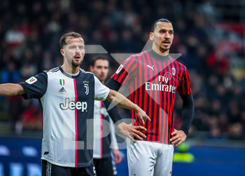 13/02/2020 - Zlatan Ibrahimovic of AC Milan and Miralem Pjanic of Juventus  - MILAN VS JUVENTUS -  - CALCIO