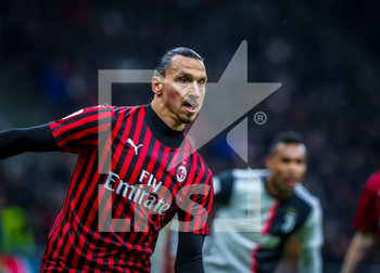 13/02/2020 - Zlatan Ibrahimovic of AC Milan during the Coppa Italia 2019/20 match between AC Milan vs Juventus at the San Siro Stadium, Milan, Italy on February 13, 2020 - Photo Fabrizio Carabelli - MILAN VS JUVENTUS -  - CALCIO