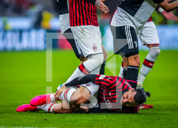 13/02/2020 - Zlatan Ibrahimovic of AC Milan injured  - MILAN VS JUVENTUS -  - CALCIO