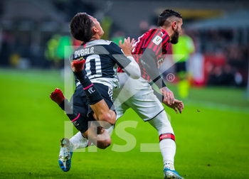 13/02/2020 - Paulo Dybala of Juventus fights for the ball against Theo Hernandez of AC Milan during the Coppa Italia 2019/20 match between AC Milan vs Juventus at the San Siro Stadium, Milan, Italy on February 13, 2020 - Photo Fabrizio Carabelli - MILAN VS JUVENTUS -  - CALCIO