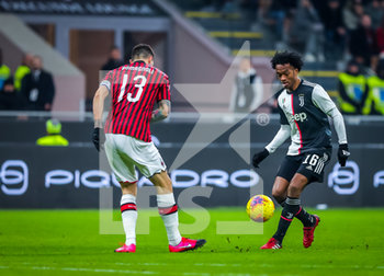13/02/2020 - Juan Cuadrado of Juventus during the Coppa Italia 2019/20 match between AC Milan vs Juventus at the San Siro Stadium, Milan, Italy on February 13, 2020 - Photo Fabrizio Carabelli - MILAN VS JUVENTUS -  - CALCIO