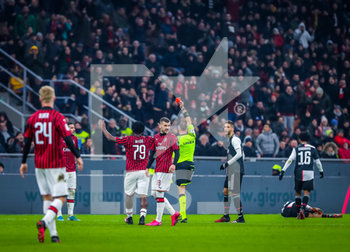 13/02/2020 - Theo Hernandez of AC Milan red card  - MILAN VS JUVENTUS -  - CALCIO