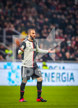 13/02/2020 - Gonzalo Higuain of Juventus during the Coppa Italia 2019/20 match between AC Milan vs Juventus at the San Siro Stadium, Milan, Italy on February 13, 2020 - Photo Fabrizio Carabelli - MILAN VS JUVENTUS -  - CALCIO