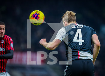 13/02/2020 - Matthijs de Ligt of Juventus during the Coppa Italia 2019/20 match between AC Milan vs Juventus at the San Siro Stadium, Milan, Italy on February 13, 2020 - Photo Fabrizio Carabelli - MILAN VS JUVENTUS -  - CALCIO