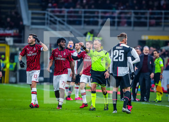 13/02/2020 - Paolo Valeri assigns penalty after VAR during the Coppa Italia 2019/20 match between AC Milan vs Juventus at the San Siro Stadium, Milan, Italy on February 13, 2020 - Photo Fabrizio Carabelli - MILAN VS JUVENTUS -  - CALCIO
