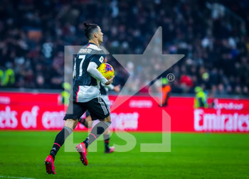 13/02/2020 - Cristiano Ronaldo of Juventus celebrates the goal during the Coppa Italia 2019/20 match between AC Milan vs Juventus at the San Siro Stadium, Milan, Italy on February 13, 2020 - Photo Fabrizio Carabelli - MILAN VS JUVENTUS -  - CALCIO