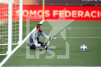 06/09/2020 - David de Gea of Spain warms up before the UEFA Nations League football match between Spain and Ukraine on september 06, 2020 at Alfredo Di Stefano stadium in Valdebebas near Madrid, Spain - Photo Oscar J Barroso / Spain DPPI / DPPI - SPAGNA VS UCRAINA - UEFA NATIONS LEAGUE - CALCIO