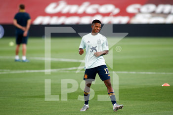 06/09/2020 - Ansu Fati of Spain warms up before the UEFA Nations League football match between Spain and Ukraine on september 06, 2020 at Alfredo Di Stefano stadium in Valdebebas near Madrid, Spain - Photo Oscar J Barroso / Spain DPPI / DPPI - SPAGNA VS UCRAINA - UEFA NATIONS LEAGUE - CALCIO