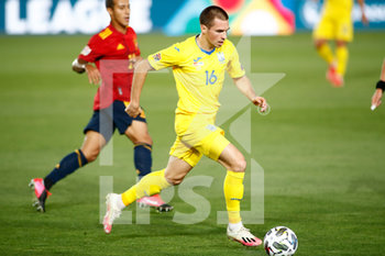 06/09/2020 - Bogdan Mykhaylichenko of Ukraine in action during the UEFA Nations League football match between Spain and Ukraine on september 06, 2020 at Alfredo Di Stefano stadium in Valdebebas near Madrid, Spain - Photo Oscar J Barroso / Spain DPPI / DPPI - SPAGNA VS UCRAINA - UEFA NATIONS LEAGUE - CALCIO