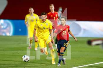 06/09/2020 - Jesus Navas of Spain and Roman Yaremchuk of Ukraine in action during the UEFA Nations League football match between Spain and Ukraine on september 06, 2020 at Alfredo Di Stefano stadium in Valdebebas near Madrid, Spain - Photo Oscar J Barroso / Spain DPPI / DPPI - SPAGNA VS UCRAINA - UEFA NATIONS LEAGUE - CALCIO