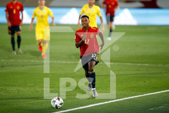 06/09/2020 - Ansu Fati of Spain in action during the UEFA Nations League football match between Spain and Ukraine on september 06, 2020 at Alfredo Di Stefano stadium in Valdebebas near Madrid, Spain - Photo Oscar J Barroso / Spain DPPI / DPPI - SPAGNA VS UCRAINA - UEFA NATIONS LEAGUE - CALCIO