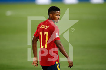 06/09/2020 - Ansu Fati of Spain during the UEFA Nations League football match between Spain and Ukraine on september 06, 2020 at Alfredo Di Stefano stadium in Valdebebas near Madrid, Spain - Photo Oscar J Barroso / Spain DPPI / DPPI - SPAGNA VS UCRAINA - UEFA NATIONS LEAGUE - CALCIO