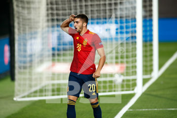 06/09/2020 - Ferran Torres of Spain celebrates a goal during the UEFA Nations League football match between Spain and Ukraine on september 06, 2020 at Alfredo Di Stefano stadium in Valdebebas near Madrid, Spain - Photo Oscar J Barroso / Spain DPPI / DPPI - SPAGNA VS UCRAINA - UEFA NATIONS LEAGUE - CALCIO