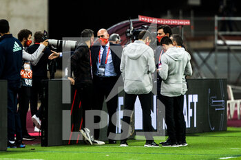 17/11/2020 - Luis Rubiales, President of RFEF, and Luis Enrique Martinez, head coach of Spain during the UEFA Nations league football match between Spain and Germany on November 17, 2020 at the la Cartuja Stadium in Sevilla, Spain - Photo Joaquin Corchero / Spain DPPI / DPPI - SPAIN VS GERMANY - UEFA NATIONS LEAGUE - CALCIO