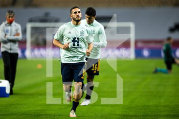 17/11/2020 - Koke Resurreccion of Spain warms up before the UEFA Nations league football match between Spain and Germany on November 17, 2020 at the la Cartuja Stadium in Sevilla, Spain - Photo Joaquin Corchero / Spain DPPI / DPPI - SPAIN VS GERMANY - UEFA NATIONS LEAGUE - CALCIO
