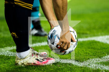 17/11/2020 - Detail of ball during the UEFA Nations league football match between Spain and Germany on November 17, 2020 at the la Cartuja Stadium in Sevilla, Spain - Photo Joaquin Corchero / Spain DPPI / DPPI - SPAIN VS GERMANY - UEFA NATIONS LEAGUE - CALCIO