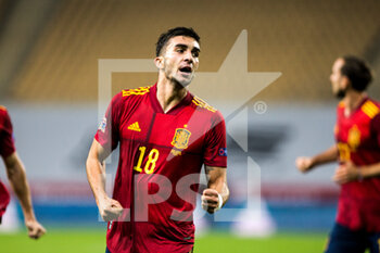 17/11/2020 - Ferran Torres of Spain celebrates a goal during the UEFA Nations league football match between Spain and Germany on November 17, 2020 at the la Cartuja Stadium in Sevilla, Spain - Photo Joaquin Corchero / Spain DPPI / DPPI - SPAIN VS GERMANY - UEFA NATIONS LEAGUE - CALCIO