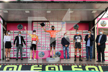 09/10/2020 - The podium with 1 Szymon Krawczyk - CCC Development Team 2 Klaus Larsen Uno XPro Cycling Team 3 Lars Kulbe - Team SKS Sauerland Nrw - UNDER 23 ELITE - TAPPA IN LINEA – ROAD RACE VARIANO – SAN MARCO DI MERETO DI TOMBA - STRADA - CICLISMO