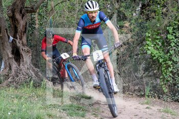 03/04/2021 - (3) Stephane Tempier - (FRA) and (8) Nadir Colledani - (ITA) in action during Verona MTB International XCO 2021 - VERONA MTB INTERNATIONAL XCO -  CATEGORIA OPEN MAN - MTB - MOUNTAIN BIKE - CICLISMO