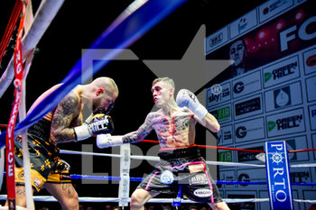 20/12/2019 - momenti del match          Forte vs Pardal - FORTE VS PARDAL - EUROPEAN UNION FEATHER WEIGHTS TITLE - BOXE - CONTATTO