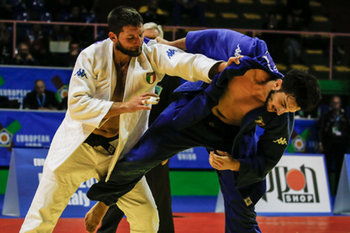 17/02/2019 - Di Guida Domenico (W) vs Rigano Lorenzo (B) - EUROPEAN JUDO OPEN MEN - DAY 2 - JUDO - CONTATTO
