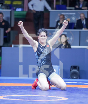 16/01/2020 - Feng Zhou (Cina) vince WW 68 kg - 1° RANKING SERIES INTERNATIONAL TOURNAMENT - DAY2 - LOTTA - CONTATTO