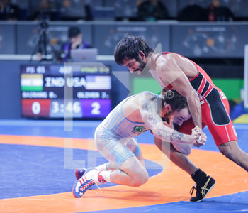 18/01/2020 - Jordan Michael Oliver (USA) vs Bajrang Bajrang (India) category 65 kg - 1° RANKING SERIES INTERNATIONAL TOURNAMENT - DAY4 - LOTTA - CONTATTO