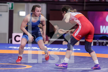 12/02/2020 - Oksana Livach (UKR) reigning champion 50 Kg category vs Evin Demirhan (TUR) - CAMPIONATO EUROPEO SENIOR DI LOTTA GRECO-ROMANA - DAY 3 - LOTTA - CONTATTO