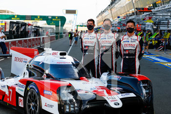 16/09/2020 - 07 Conway Mike (gbr), Kobayashi Kamui (jpn), Lopez Jos. Maria (arg), Toyota Gazoo Racing, Toyota TS050 Hybrid, portrait during the scrutineering of the 2020 24 Hours of Le Mans, 7th round of the 2019...20 FIA World Endurance Championship on the Circuit des 24 Heures du Mans, from September 16 to 20, 2020 in Le Mans, France - Photo Fr.d.ric Le Floc...h / DPPI - 24 HOURS OF LE MANS 2020 - ENDURANCE - MOTORI