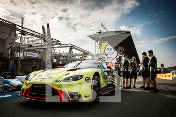 16/09/2020 - 95 Sorensen Marco (dnk), Thiim Nicki (dnk), Westbrook Richard (gbr), Aston Martin Racing, Aston Martin Vantage AMR, ambiance during the scrutineering of the 2020 24 Hours of Le Mans, 7th round of the 2019...20 FIA World Endurance Championship on the Circuit des 24 Heures du Mans, from September 16 to 20, 2020 in Le Mans, France - Photo Thomas Fenetre / DPPI - 24 HOURS OF LE MANS 2020 - ENDURANCE - MOTORI
