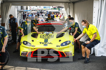 16/09/2020 - 95 Sorensen Marco (dnk), Thiim Nicki (dnk), Westbrook Richard (gbr), Aston Martin Racing, Aston Martin Vantage AMR during the scrutineering of the 2020 24 Hours of Le Mans, 7th round of the 2019...20 FIA World Endurance Championship on the Circuit des 24 Heures du Mans, from September 16 to 20, 2020 in Le Mans, France - Photo Xavi Bonilla / DPPI - 24 HOURS OF LE MANS 2020 - ENDURANCE - MOTORI