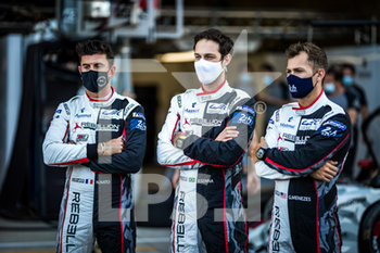 16/09/2020 - 01 Menezes Gustavo (usa), Nato Norman (fra), Senna Bruno (bra), Rebellion Racing, Rebellion R13-Gibson, ambiance during the scrutineering of the 2020 24 Hours of Le Mans, 7th round of the 2019...20 FIA World Endurance Championship on the Circuit des 24 Heures du Mans, from September 16 to 20, 2020 in Le Mans, France - Photo Thomas Fenetre / DPPI - 24 HOURS OF LE MANS 2020 - ENDURANCE - MOTORI