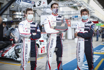 16/09/2020 - 03 Berthon Nathanael (fra), Del.traz Louis (swi), Dumas Romain (fra), Rebellion Racing, Rebellion R13-Gibson, portrait during the scrutineering of the 2020 24 Hours of Le Mans, 7th round of the 2019...20 FIA World Endurance Championship on the Circuit des 24 Heures du Mans, from September 16 to 20, 2020 in Le Mans, France - Photo Xavi Bonilla / DPPI - 24 HOURS OF LE MANS 2020 - ENDURANCE - MOTORI