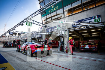 16/09/2020 - 51 Calado James (gbr), Pier Guidi Alessandro (ita), Serra Daniel (bra), AF Corse, Ferrari 488 GTE Evo, ambiance during the scrutineering of the 2020 24 Hours of Le Mans, 7th round of the 2019...20 FIA World Endurance Championship on the Circuit des 24 Heures du Mans, from September 16 to 20, 2020 in Le Mans, France - Photo Thomas Fenetre / DPPI - 24 HOURS OF LE MANS 2020 - ENDURANCE - MOTORI