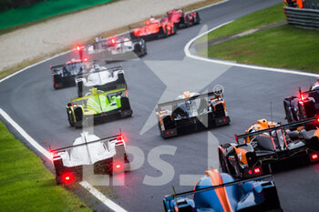 11/10/2020 - start of the race, depart, during the 2020 4 Hours of Monza, 4th round of the 2020 European Le Mans Series, from October 9 to 11, 2020 on the Autodromo Nazionale di Monza, Italy - Photo Germain Hazard / DPPI - 4 HOURS OF MONZA, 4TH ROUND OF THE 2020 EUROPEAN LE MANS SERIES - SUNDAY - ENDURANCE - MOTORI