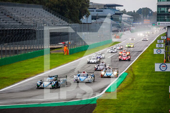 11/10/2020 - 30 Gommendy Tristan (fra), Hirschi Jonathan (che), Tereschenko Konstantin (rus), Duqueine Team,, Oreca 07 Gibson, action 31 Canal Julien (fra), Jamin Nicolas (fra), Stevens Will (gbr), Panis Racing, Oreca 07 Gibson, action 37 Lapierre Nicolas (fra), Borga Antonin (che), Coigny Alexandre (che), Cool Racing, Oreca 07 Gibson, action second start of the race, depart, during the 2020 4 Hours of Monza, 4th round of the 2020 European Le Mans Series, from October 9 to 11, 2020 on the Autodromo Nazionale di Monza, Italy - Photo Germain Hazard / DPPI - 4 HOURS OF MONZA, 4TH ROUND OF THE 2020 EUROPEAN LE MANS SERIES - SUNDAY - ENDURANCE - MOTORI