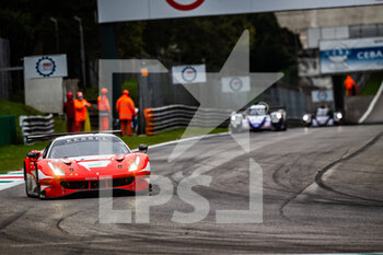 11/10/2020 - 74 Broniszewski Michael (pol), Cadei Nicola (ita), Perel David (zaf), Kessel Racing, Ferrari 488 GTE Evo, action during the 2020 4 Hours of Monza, 4th round of the 2020 European Le Mans Series, from October 9 to 11, 2020 on the Autodromo Nazionale di Monza, Italy - Photo Germain Hazard / DPPI - 4 HOURS OF MONZA, 4TH ROUND OF THE 2020 EUROPEAN LE MANS SERIES - SUNDAY - ENDURANCE - MOTORI