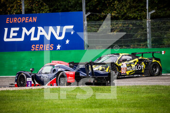 11/10/2020 - 03 Tappy Duncan (gbr), Bentley Andrew (gbr), McGuire James (usa), United Autosports, Ligier JS P320 - Nissan, action 60 Schiavoni Claudio (ita), Mastronardi Rino (ita), Nielsen Nicklas (dnk), Iron Lynx, Ferrari 488 GTE Evo, action crash, accident, during the 2020 4 Hours of Monza, 4th round of the 2020 European Le Mans Series, from October 9 to 11, 2020 on the Autodromo Nazionale di Monza, Italy - Photo Germain Hazard / DPPI - 4 HOURS OF MONZA, 4TH ROUND OF THE 2020 EUROPEAN LE MANS SERIES - SUNDAY - ENDURANCE - MOTORI