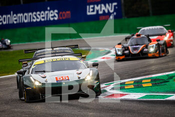 11/10/2020 - 55 Cameron Duncan (gbr), Griffin Matthew (irl), Scott Aaron (gbr), Spirit of race, Ferrari 488 GTE Evo, action during the 2020 4 Hours of Monza, 4th round of the 2020 European Le Mans Series, from October 9 to 11, 2020 on the Autodromo Nazionale di Monza, Italy - Photo Germain Hazard / DPPI - 4 HOURS OF MONZA, 4TH ROUND OF THE 2020 EUROPEAN LE MANS SERIES - SUNDAY - ENDURANCE - MOTORI