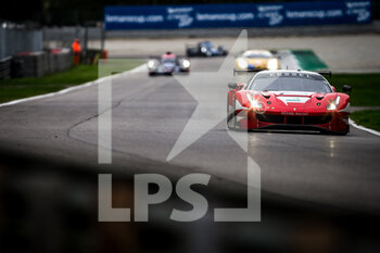 11/10/2020 - 74 Broniszewski Michael (pol), Cadei Nicola (ita), Perel David (zaf), Kessel Racing, Ferrari 488 GTE Evo, action during the 2020 4 Hours of Monza, 4th round of the 2020 European Le Mans Series, from October 9 to 11, 2020 on the Autodromo Nazionale di Monza, Italy - Photo Thomas Fenetre / DPPI - 4 HOURS OF MONZA, 4TH ROUND OF THE 2020 EUROPEAN LE MANS SERIES - SUNDAY - ENDURANCE - MOTORI