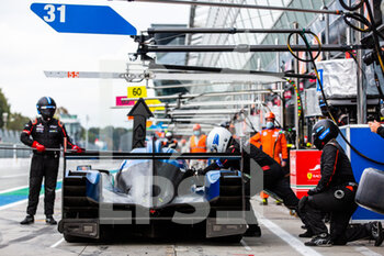 11/10/2020 - 31 Canal Julien (fra), Jamin Nicolas (fra), Stevens Will (gbr), Panis Racing, Oreca 07 Gibson, action pitlane, pitstop during the 2020 4 Hours of Monza, 4th round of the 2020 European Le Mans Series, from October 9 to 11, 2020 on the Autodromo Nazionale di Monza, Italy - Photo Germain Hazard / DPPI - 4 HOURS OF MONZA, 4TH ROUND OF THE 2020 EUROPEAN LE MANS SERIES - SUNDAY - ENDURANCE - MOTORI